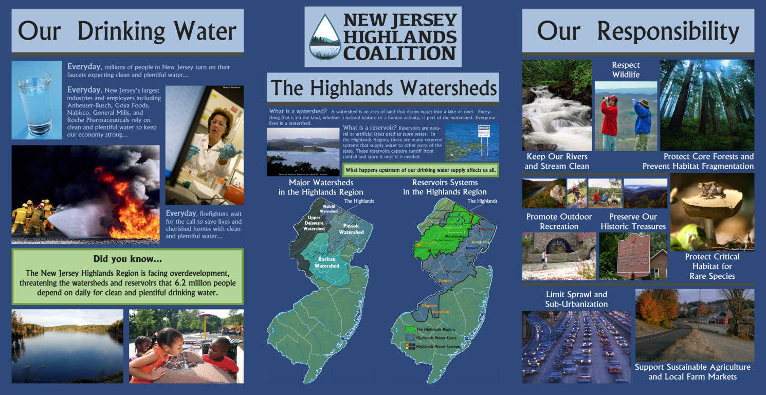 NJ Highlands Coalition Educational Display